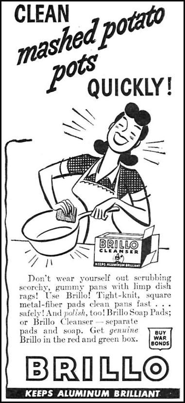 BRILLO SOAP PADS WOMAN'S DAY 07/01/1945 p. 20