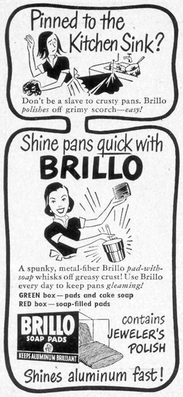 BRILLO SOAP PADS WOMAN'S DAY 07/01/1949 p. 80