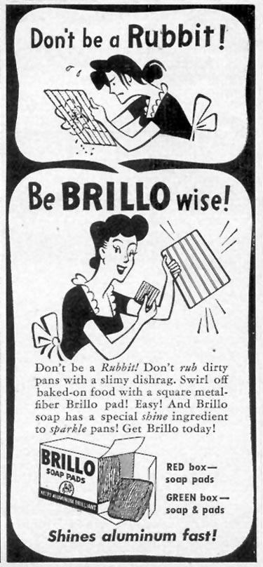 BRILLO SOAP PADS WOMAN'S DAY 09/01/1946 p. 77