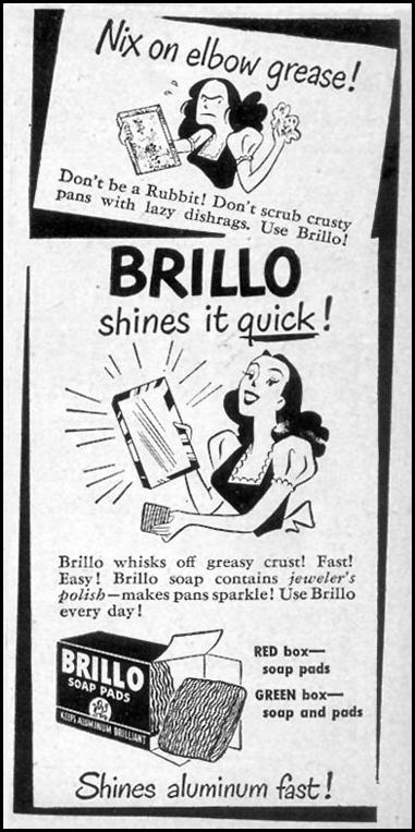 BRILLO SOAP PADS WOMAN'S DAY 09/01/1947 p. 119