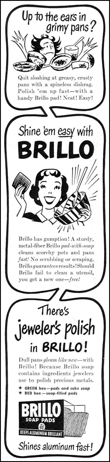 BRILLO SOAP PADS WOMAN'S DAY 09/01/1949 p. 120