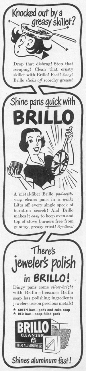 BRILLO SOAP PADS WOMAN'S DAY 10/01/1949 p. 133