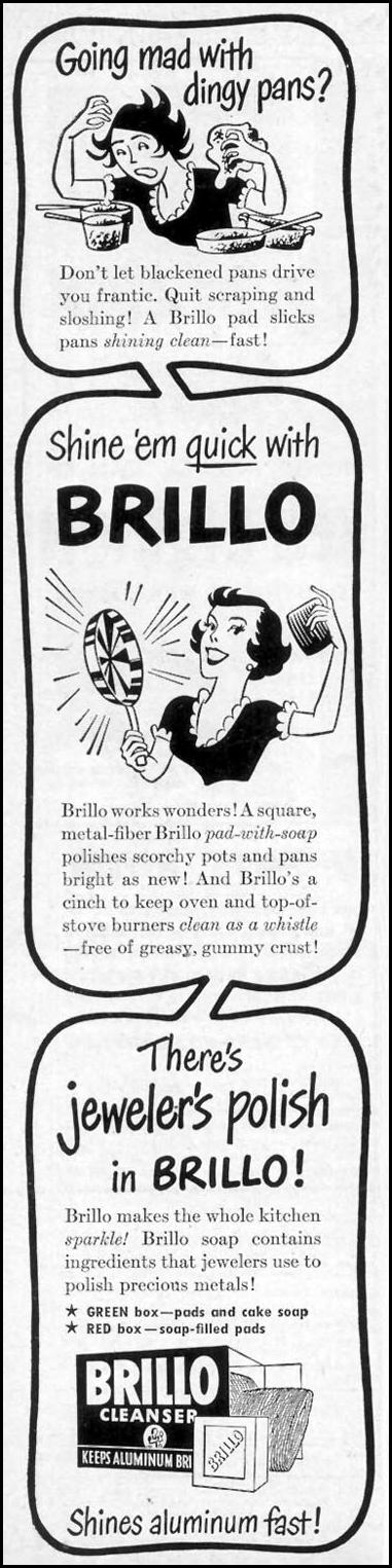 BRILLO SOAP PADS WOMAN'S DAY 11/01/1949 p. 6