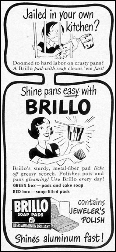 BRILLO SOAP PADS WOMAN'S DAY 12/01/1949 p. 125