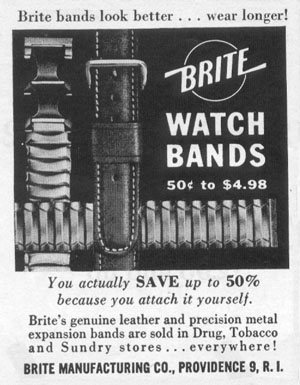 BRITE WATCH BANDS LIFE 04/08/1957 p. 142
