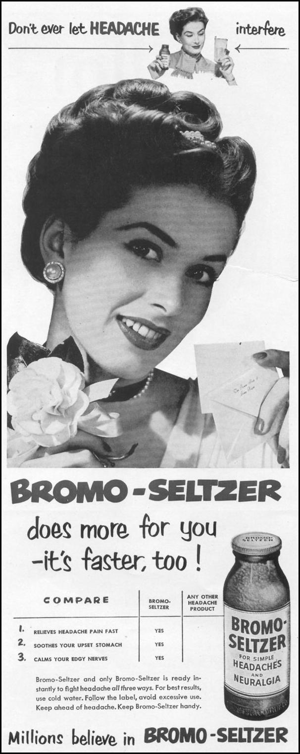 BROMO-SELTZER LIFE 01/21/1952 p. 7