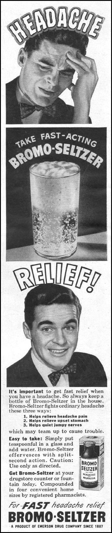BROMO-SELTZER LIFE 11/25/1946 p. 24