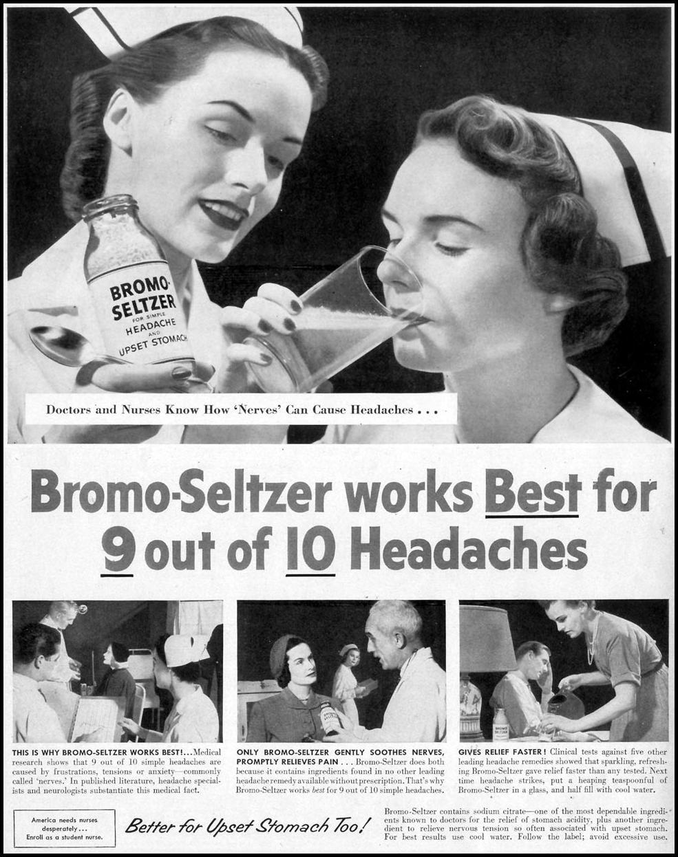 BROMO-SELTZER LIFE 11/30/1953 p. 6