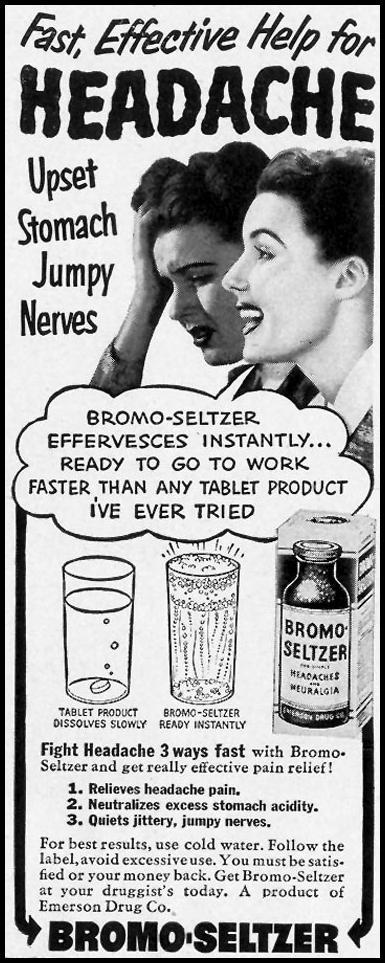 BROMO-SELTZER LIFE 12/25/1950 p. 52