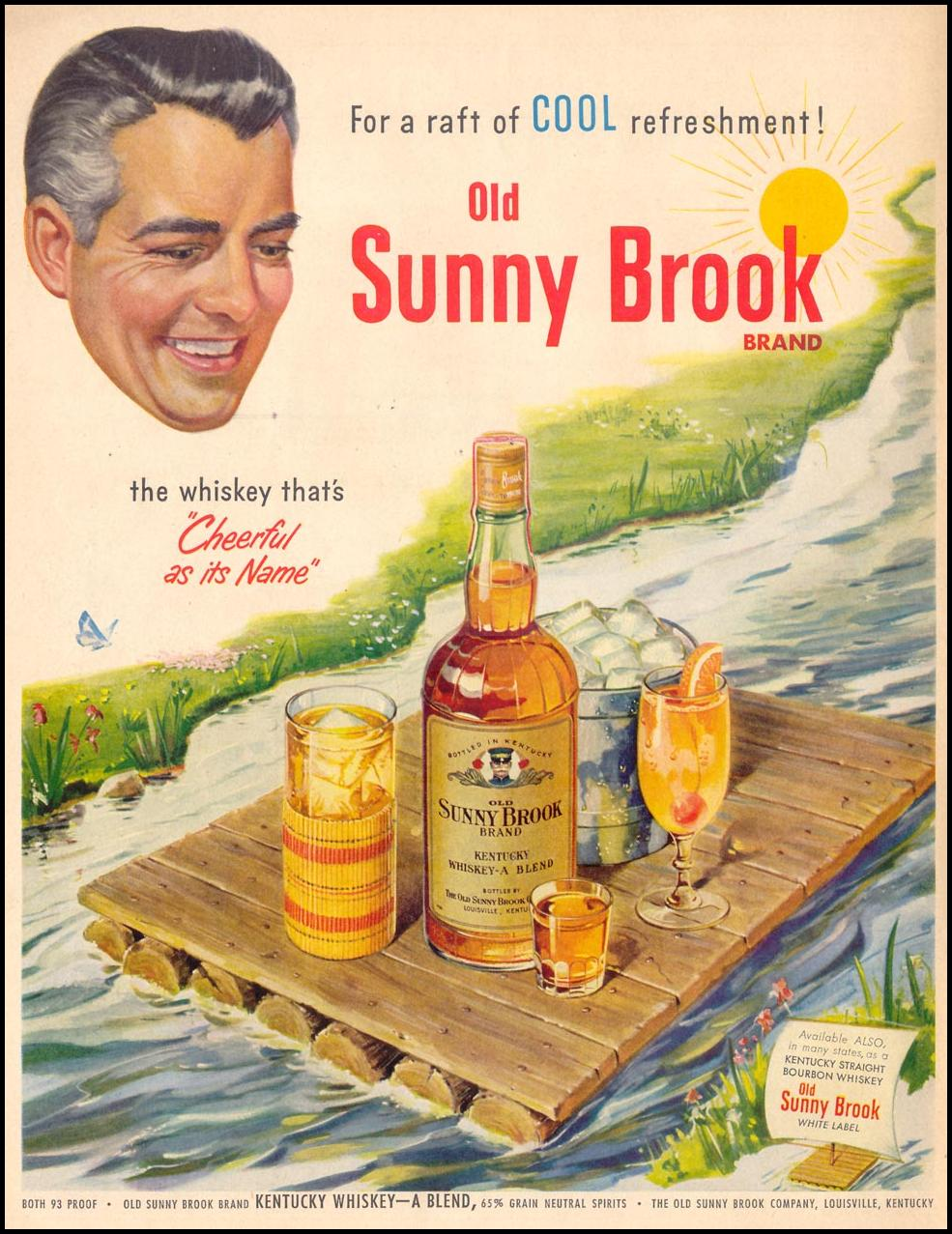 OLD SUNNY BROOK WHISKEY LIFE 07/30/1951