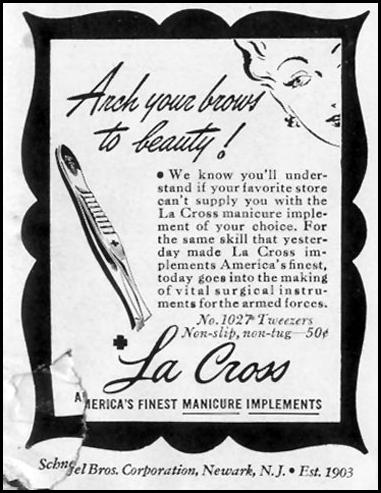 LA CROSS MANICURE IMPLEMENTS LIFE 05/24/1943 p. 99