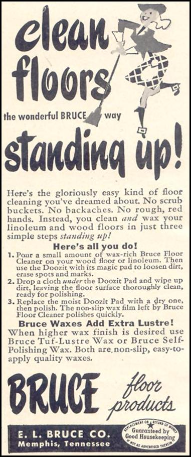 BRUCE FLOOR PRODUCTS GOOD HOUSEKEEPING 07/01/1949 p. 188