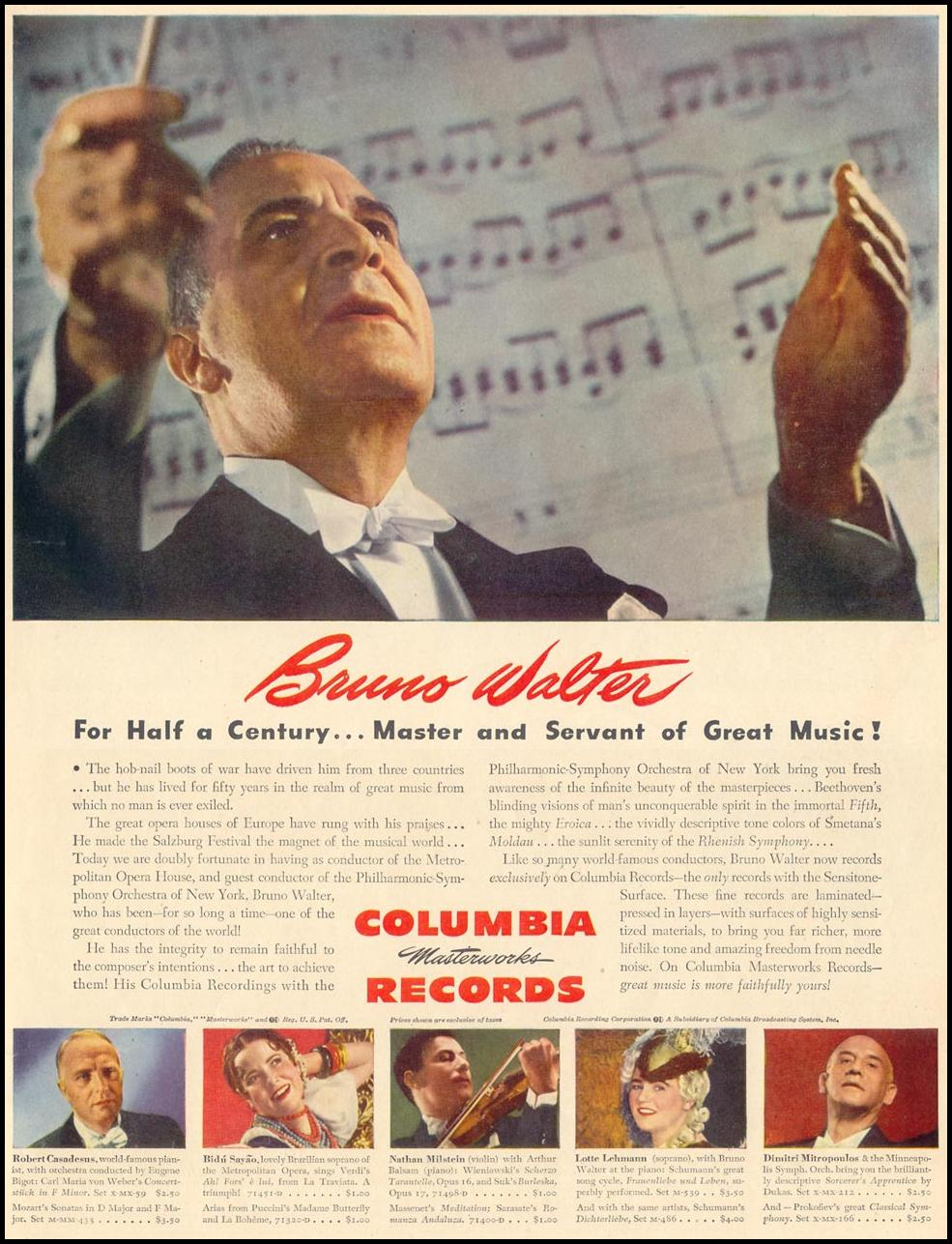 COLUMBIA MASTERWORKS RECORDS LIFE 02/28/1944