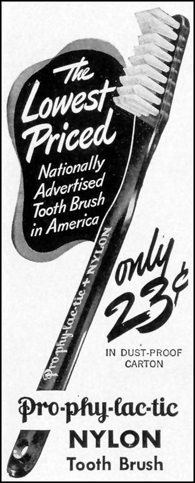 PRO-PHY-LAC-TIC NYLON TOOTHBRUSH LIFE 02/21/1944 p. 17