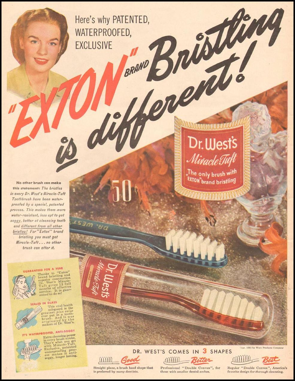 DR. WEST'S MIRACLE-TUFT TOOTHBRUSH LIFE 06/04/1945 p. 16