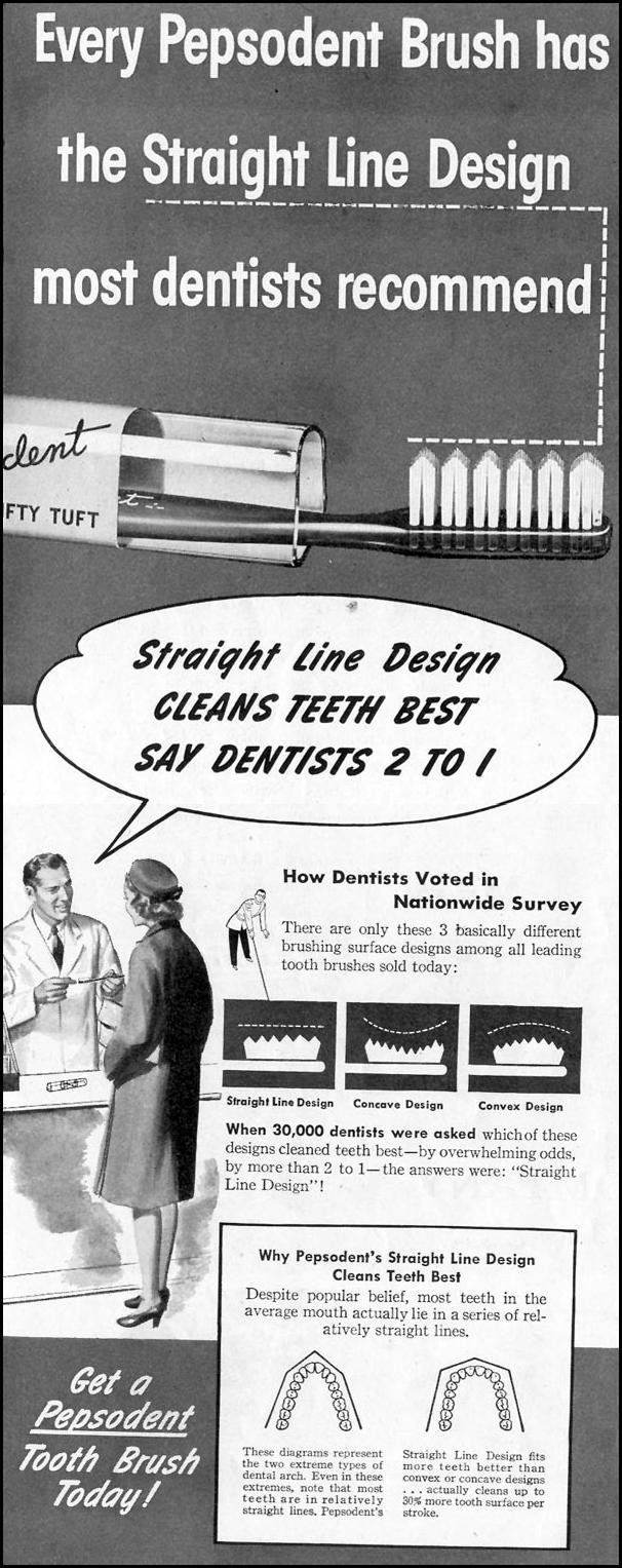 PEPSODENT TOOTHBRUSH SATURDAY EVENING POST 05/19/1945 p. 56