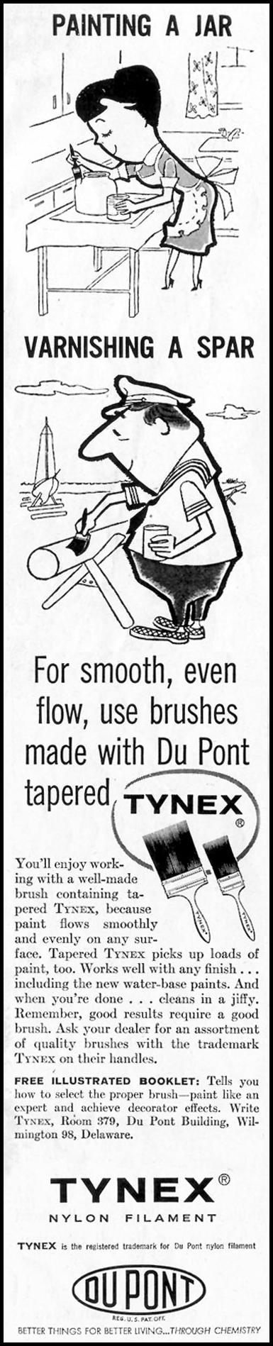 DU PONT TYNEX NYLON FILAMENT BRUSHES SATURDAY EVENING POST 08/15/1959 p. 98