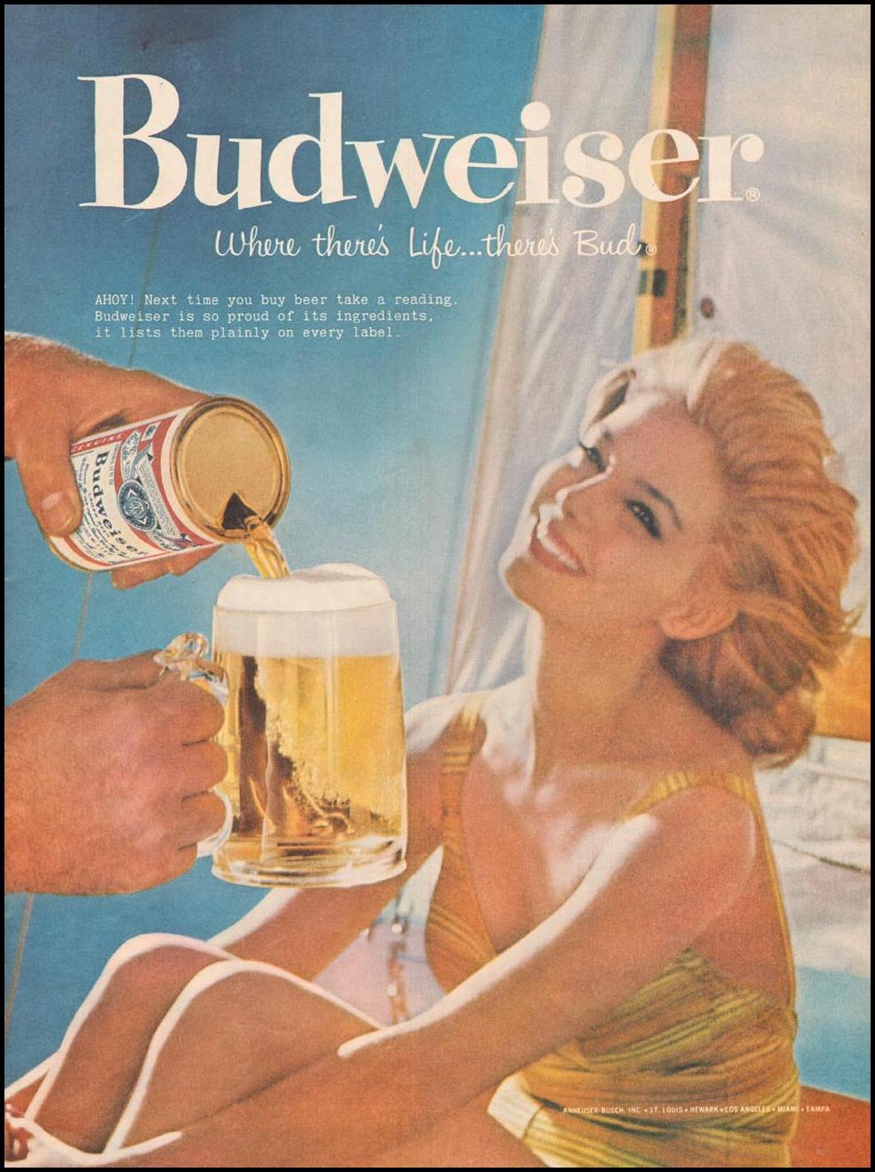 BUDWEISER BEER LIFE 08/10/1959