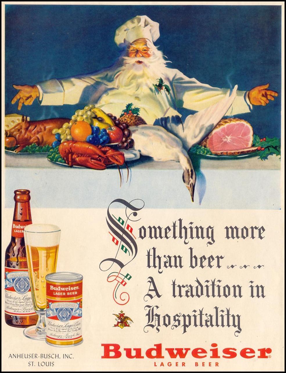 BUDWEISER BEER LIFE 12/25/1950