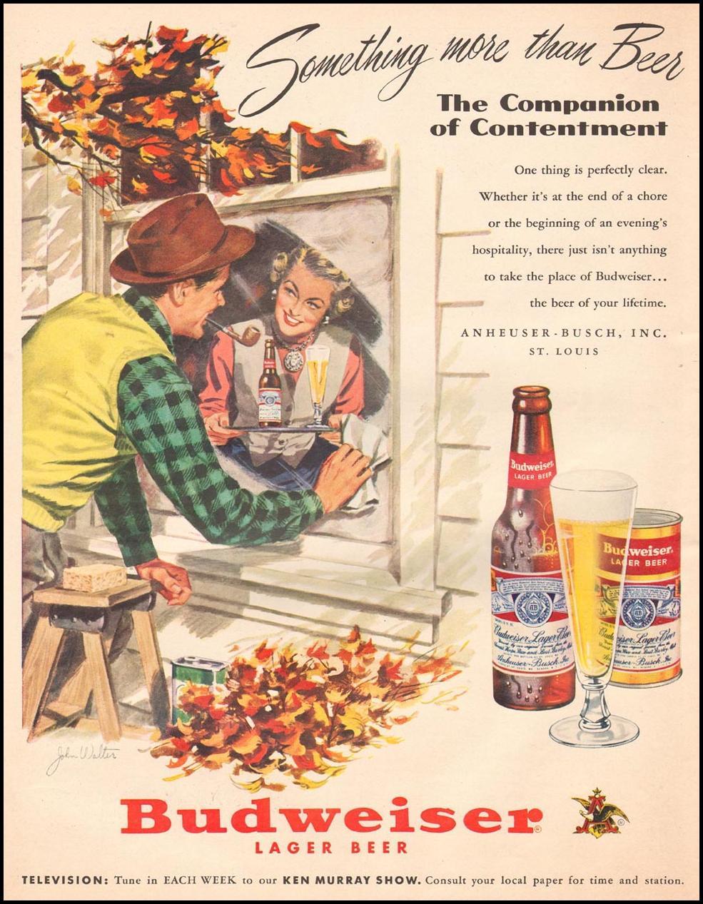 BUDWEISER BEER LIFE 10/01/1951