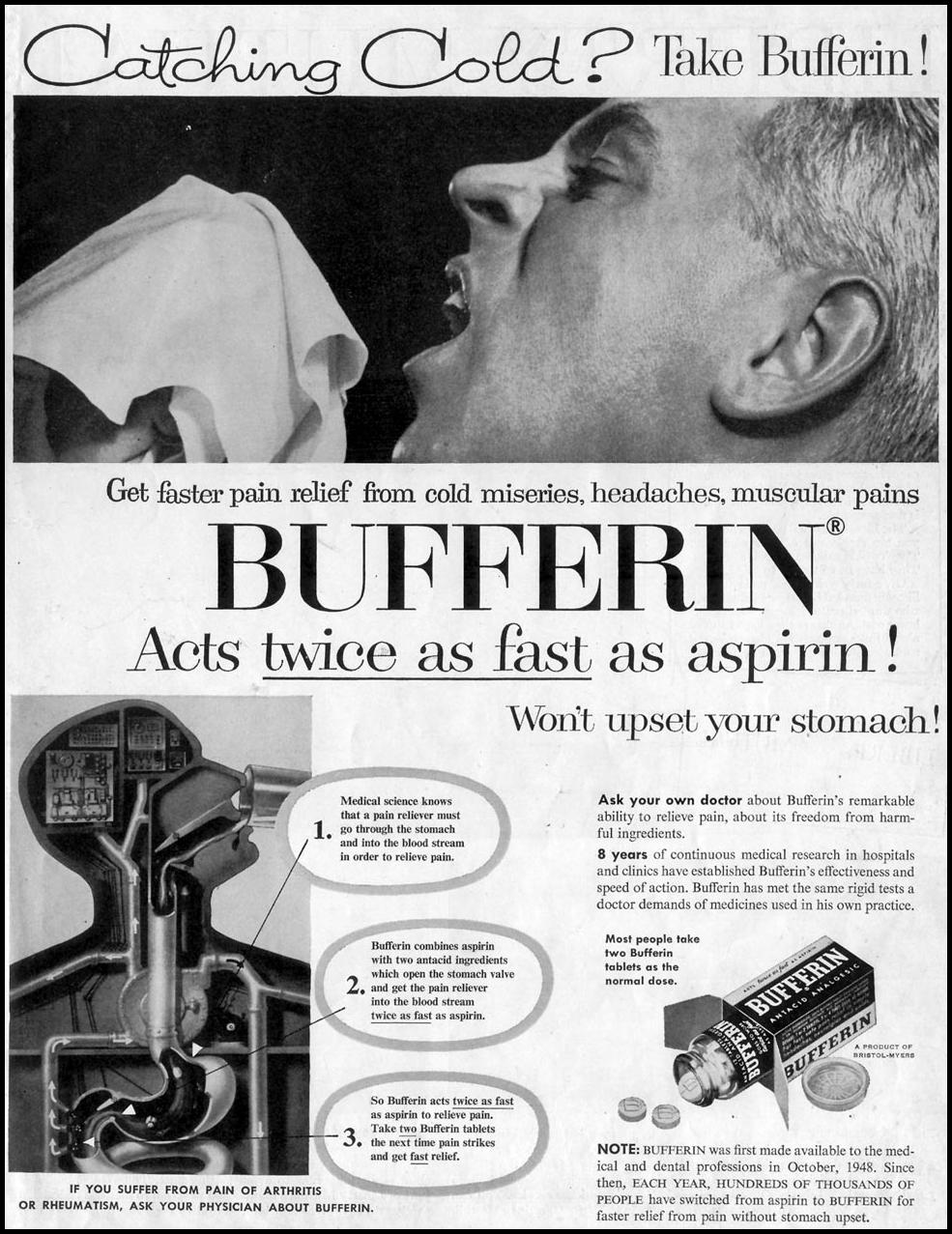 BUFFERIN SATURDAY EVENING POST 03/26/1955 p. 1