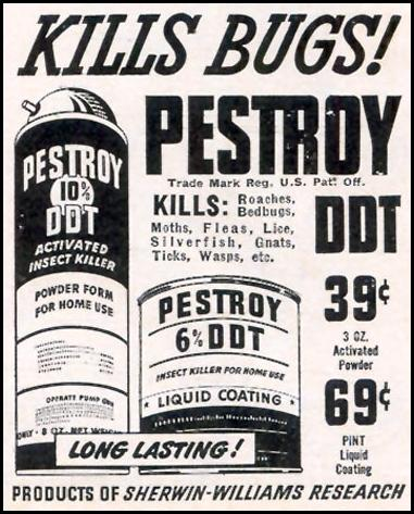 PESTROY WITH DDT WOMAN'S DAY 02/01/1947 p. 98