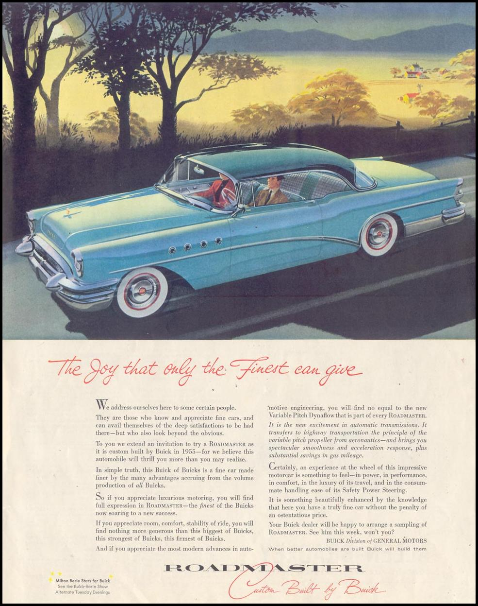 BUICK AUTOMOBILES SATURDAY EVENING POST 03/26/1955 p. 5
