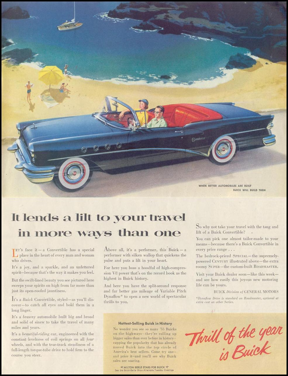 BUICK AUTOMOBILES SATURDAY EVENING POST 06/04/1955 p. 72