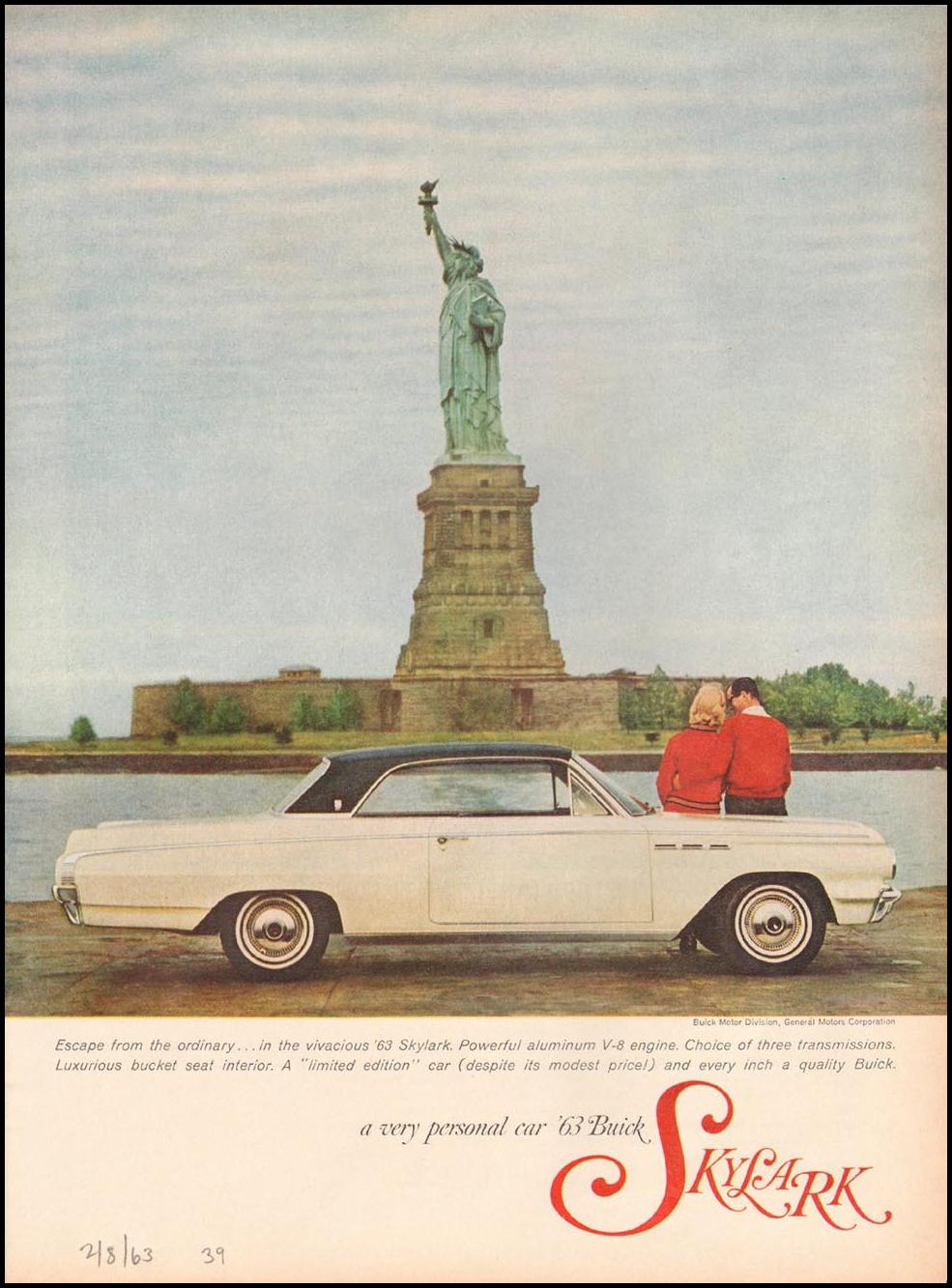 BUICK AUTOMOBILES TIME 02/08/1963 p. 39
