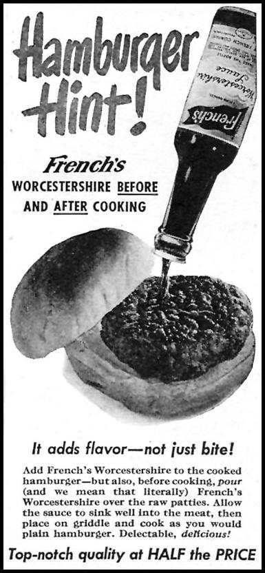 FRENCH'S WORCESTERSHIRE SAUCE WOMAN'S DAY 05/01/1946 p. 66