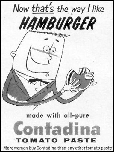 CONTADINA TOMATO PASTE WOMAN'S DAY 10/01/1954 p. 162