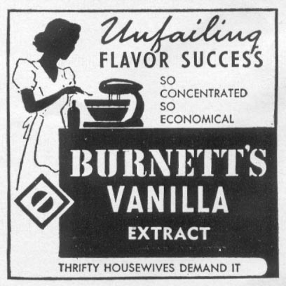 BURNETT'S PURE VANILLA EXTRACT WOMAN'S DAY 04/01/1941 p. 48