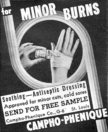 CAMPHO-PHENIQUE GOOD HOUSEKEEPING 04/01/1936 p. 249