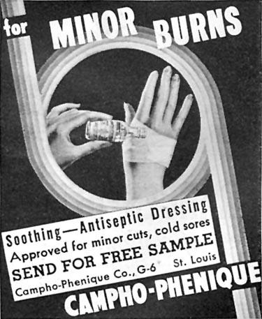 CAMPHO-PHENIQUE GOOD HOUSEKEEPING 04/01/1936 p. 249