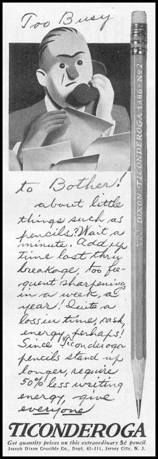 TICONDEROGA PENCILS LIFE 11/02/1942 p. 99