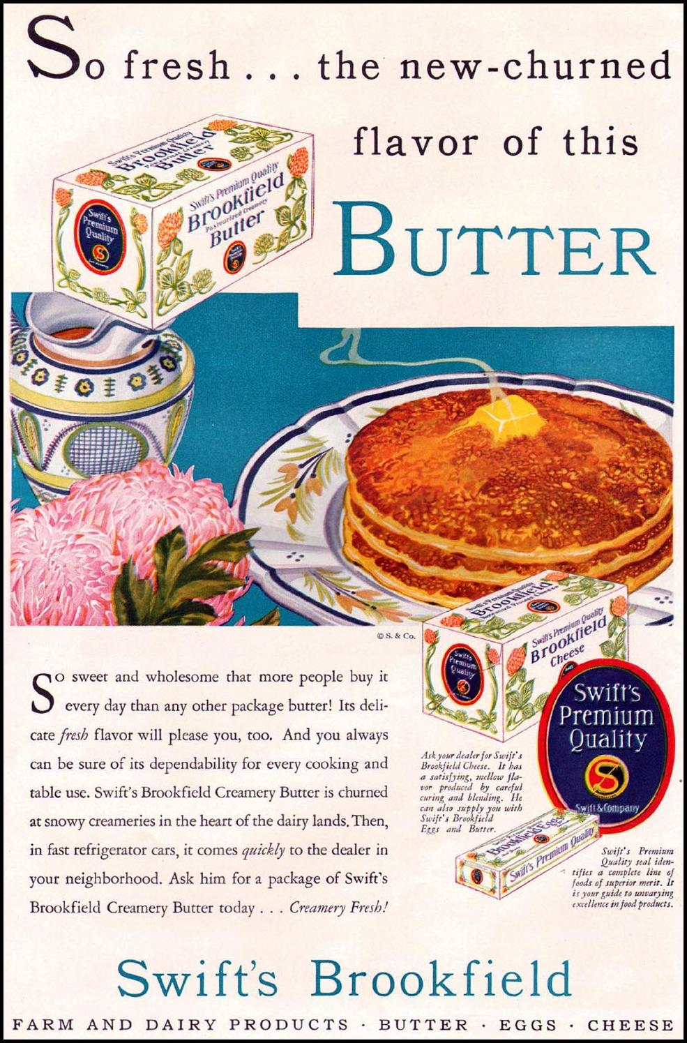 SWIFT'S BROOKFIELD BUTTER BETTER HOMES AND GARDENS 10/01/1930 p. 37