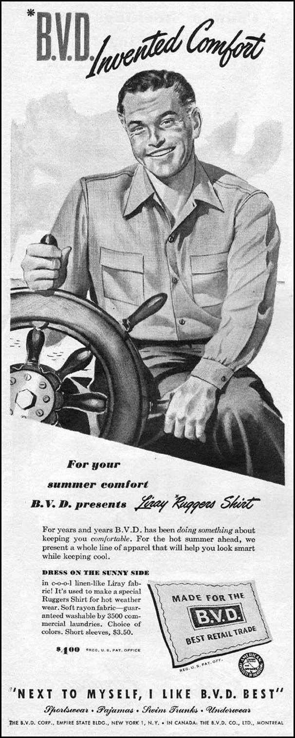 B. V. D. RUGGERS SHIRTS LIFE 06/04/1945 p. 14
