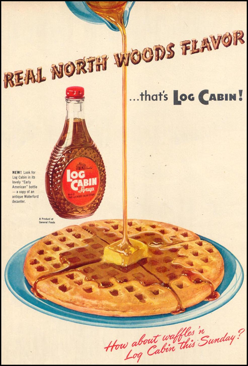 LOG CABIN SYRUP WOMAN'S DAY 10/01/1948 p. 34
