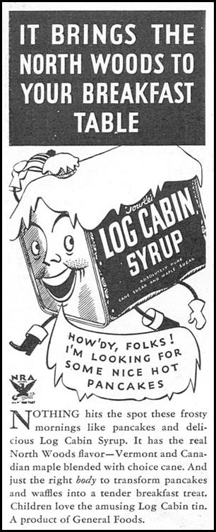 LOG CABIN SYRUP GOOD HOUSEKEEPING 12/01/1933 p. 178