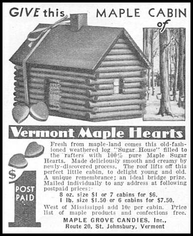 VERMONT MAPLE HEARTS GOOD HOUSEKEEPING 12/01/1933 p. 181