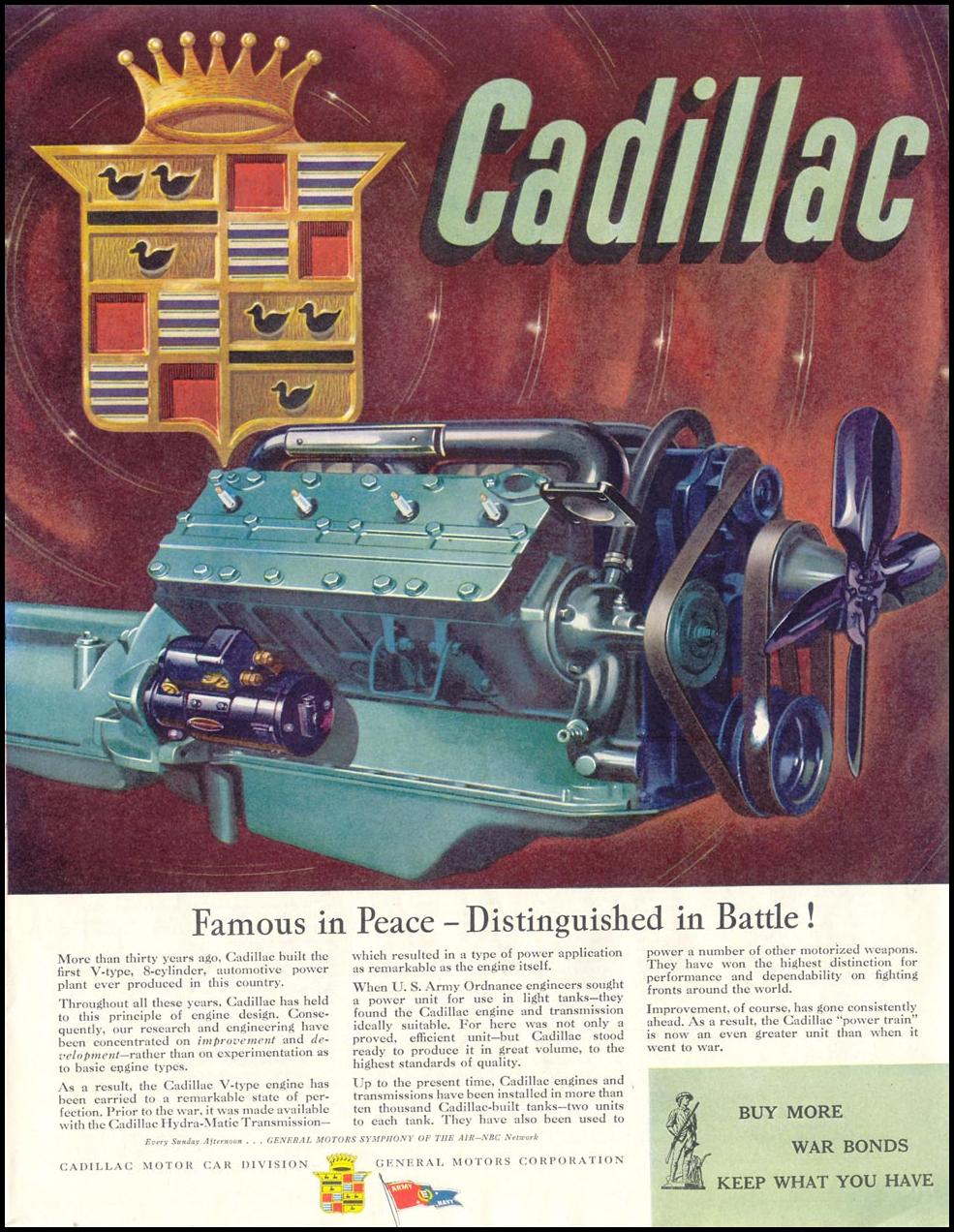 CADILLAC WAR PRODUCTION SATURDAY EVENING POST 05/19/1945 p. 31