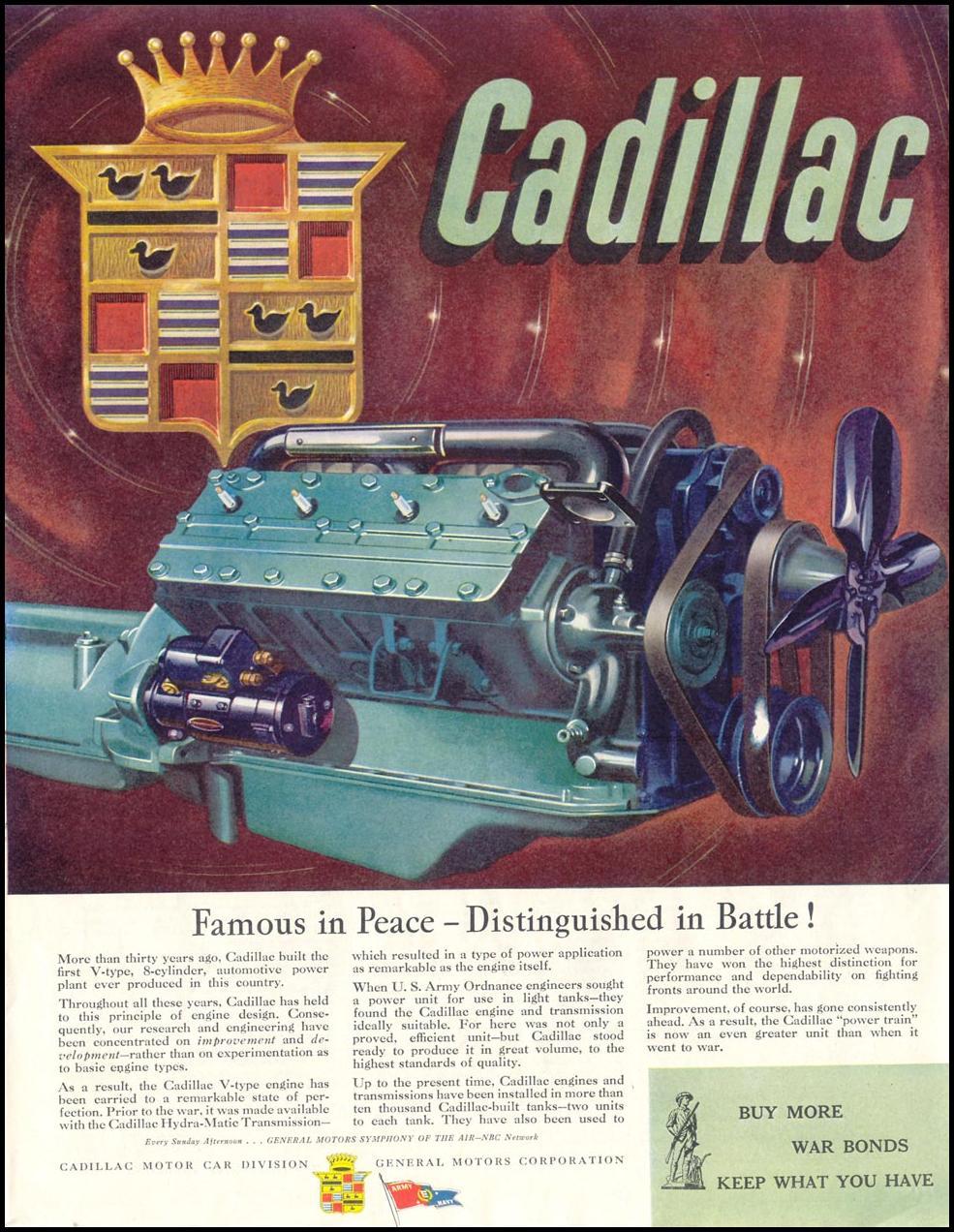 CADILLAC WAR PRODUCTION SATURDAY EVENING POST 05/19/1945 p. 31
