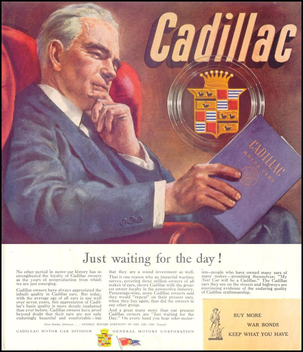 CADILLAC AUTOMOBILES SATURDAY EVENING POST 10/06/1945 p. 33