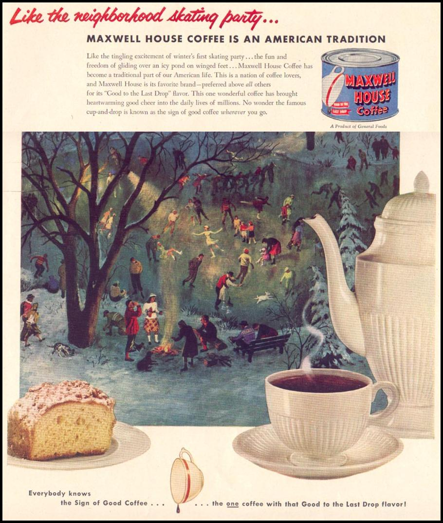 MAXWELL HOUSE COFFEE LIFE 01/21/1952 p. 49