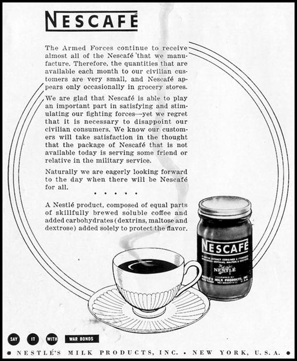 NESCAFE INSTANT COFFEE LIFE 05/24/1943 p. 82