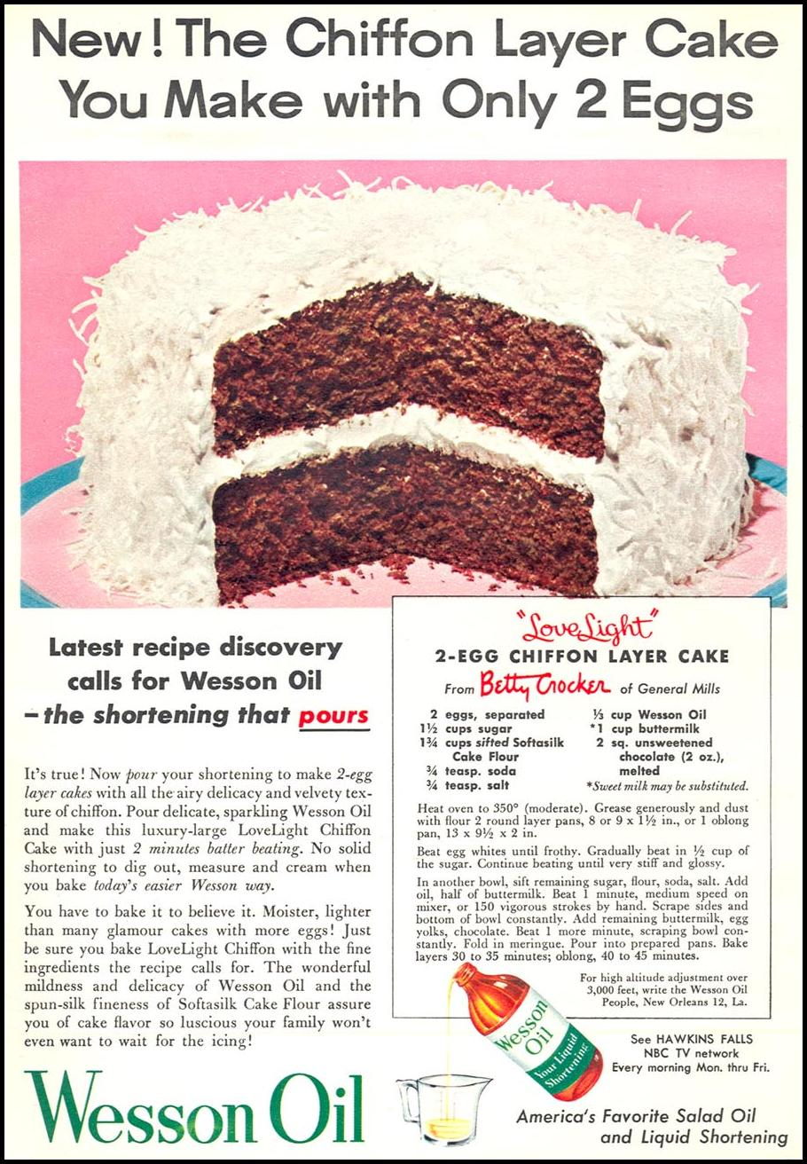 WESSON OIL WOMAN'S DAY 02/01/1954 p. 85