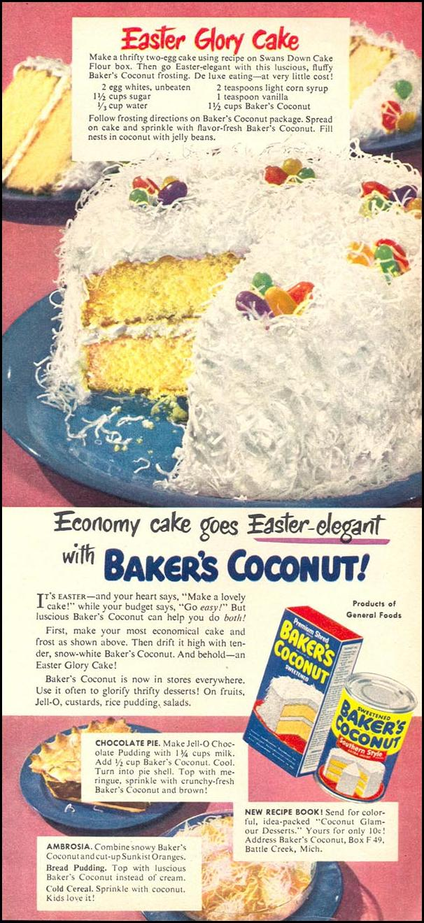 BAKER'S COCONUT WOMAN'S DAY 04/01/1949 p. 35