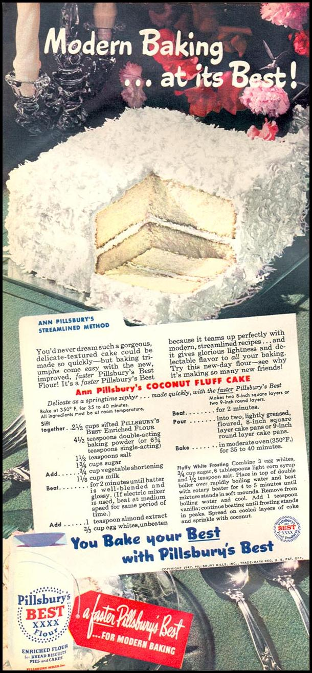 PILLSBURY'S BEST ENRICHED FLOUR WOMAN'S DAY 05/01/1947 p. 22