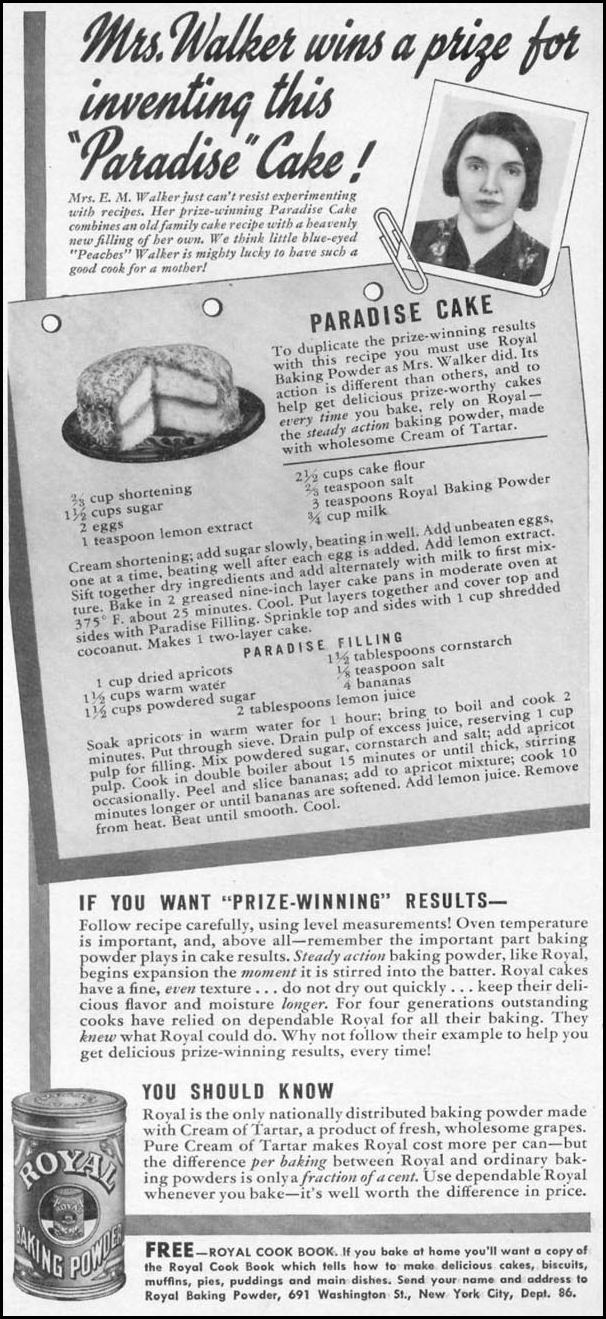 ROYAL BAKING POWDER WOMAN'S DAY 06/01/1941 p. 1