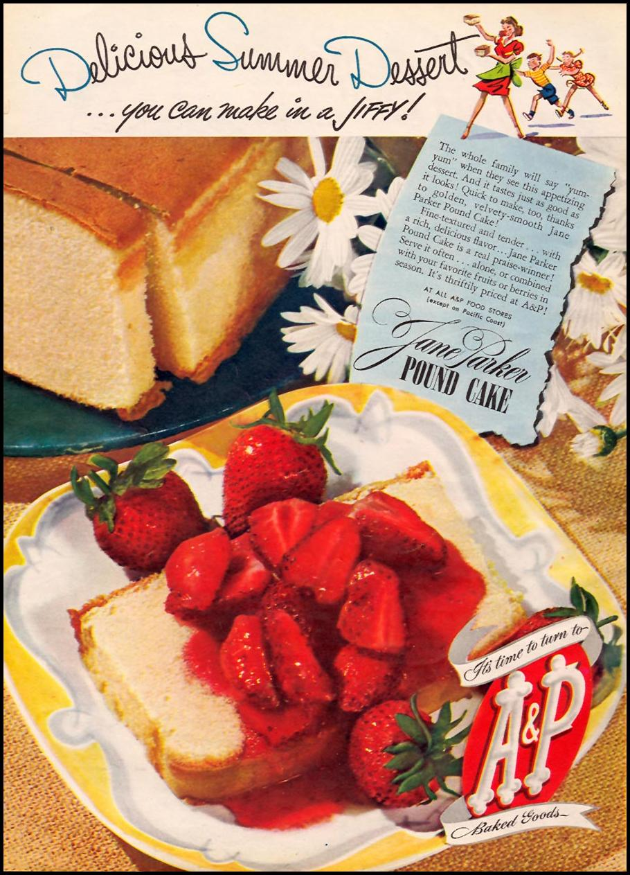JANE PARKER POUND CAKE WOMAN'S DAY 07/01/1945